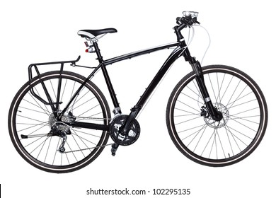 Black Mountain Bicycle isolated on white