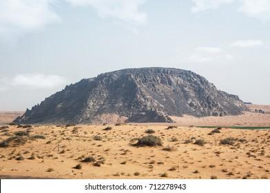 black mountain in Hail city in Saudi Arabia