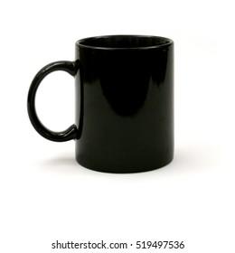 black mug on white background