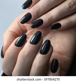 Black Nail In Beauty Salon