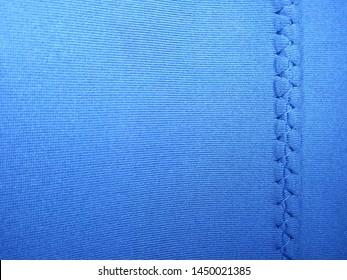black neoprene fabric with stitching