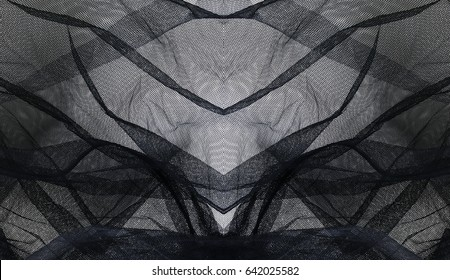 black net textile abstract background