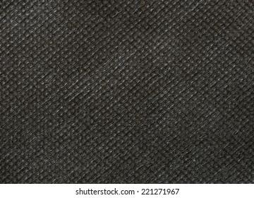 Black nonwoven fabric texture background
