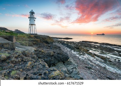 Black Nore lighthouse at Portishead in Somerset
