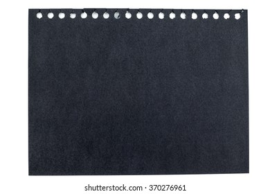 Black note paper top view isolated on white background, Mock up for adding your content