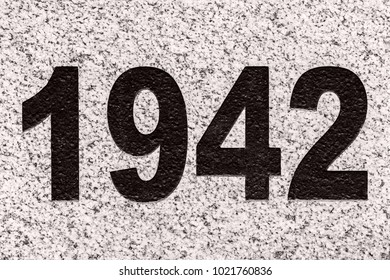 Black Numbers Figures 1942 On Marble Stock Photo (Edit Now) 1021760836