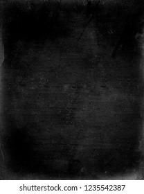 Black obsolete grunge background, scary horror texture