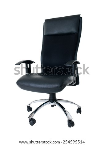 Black Office Swivel Chair On Clear Background