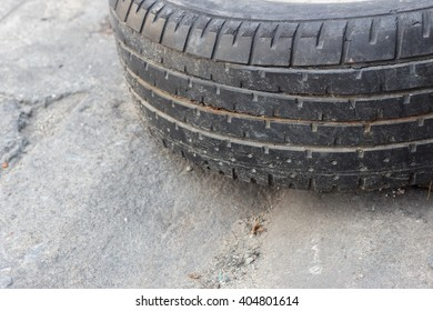 Black old tire