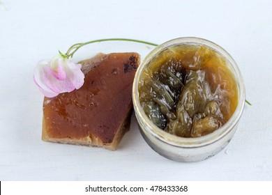 black olive soap called savon noir