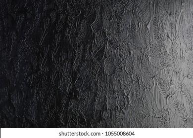 Black organic hand painted background