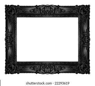 Black ornate frame, similar available in my portfolio