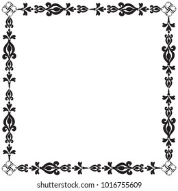 Black ornate square blank frame for photos and artwork