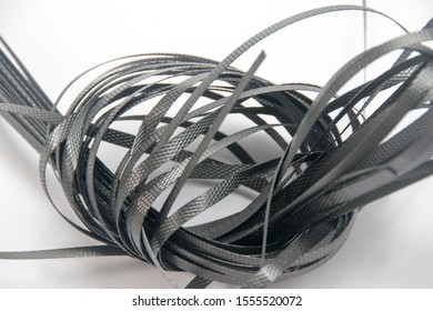 Black Packaging Straps Isolated On White Background