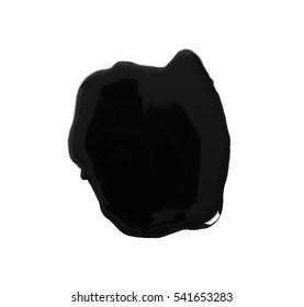 Black paint spot