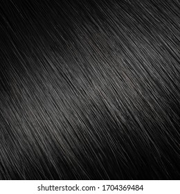 Black painted shiny hair fine texture background sample