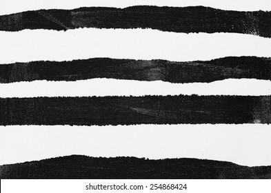 black painted striped background on white