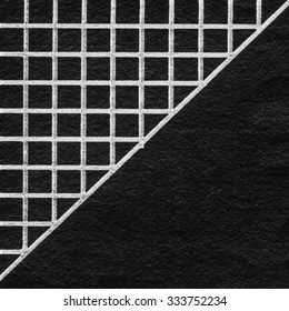 black paper background decorated with white lines,trigon