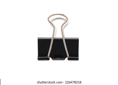 black paper clip isolated on white stock photo edit now 149888795