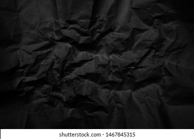 black paper crease or crumpled , abstract texture for background.