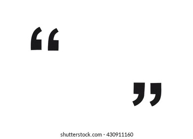 Black paper quotation marks isolated on white