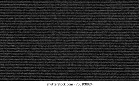 Black paper velvet texture with horizontal stripes. Can be used for presentation, paper texture, and background