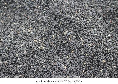 black pebbles backround