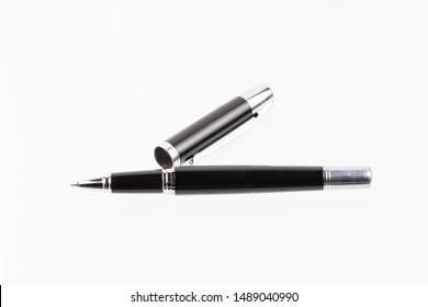 Black pen isolated on white background