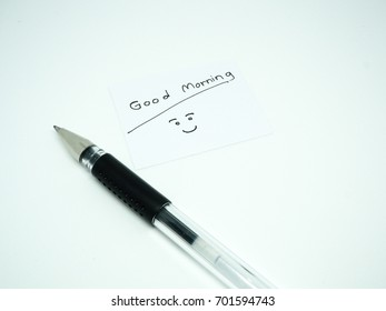 Black Pen Write Message - Good Morning