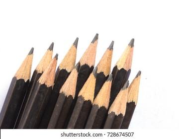 The black pencils