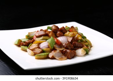 Black Pepper Beef Fried small melon