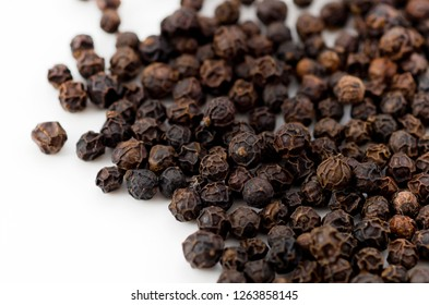 black pepper isolated on white