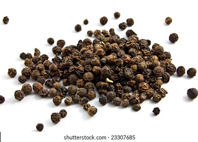 black pepper isolated on the white background