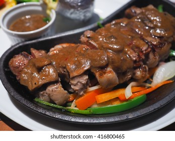 black pepper steak (focus meat)