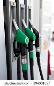 black petrol distributor - ON white