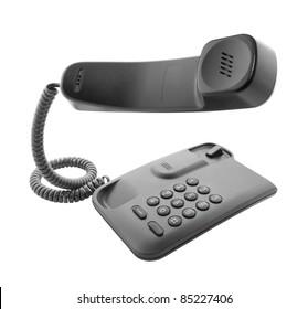 Black phone with floating handset