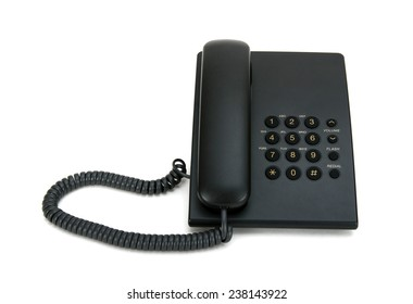 Black phone on a white