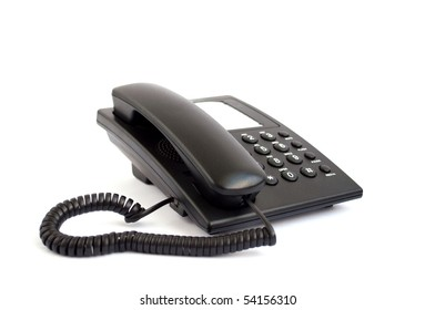Black phone on a white background