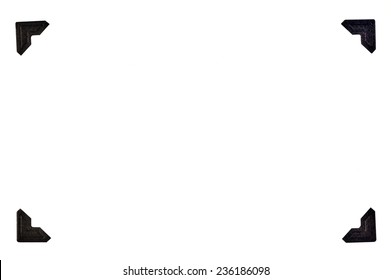 Black Photo Corners In A Rectangular Format On White Background