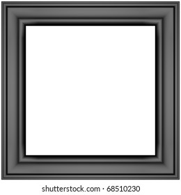 black photo frame isolated