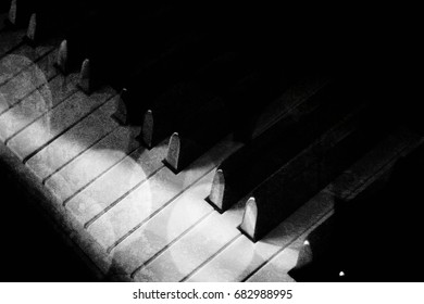 Black piano background