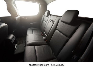 Black pickup back leather seat with isolated windows