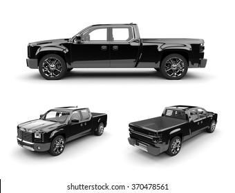 black  pickup truck ready to be branded