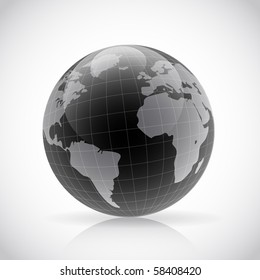 black Planet Earth sphere