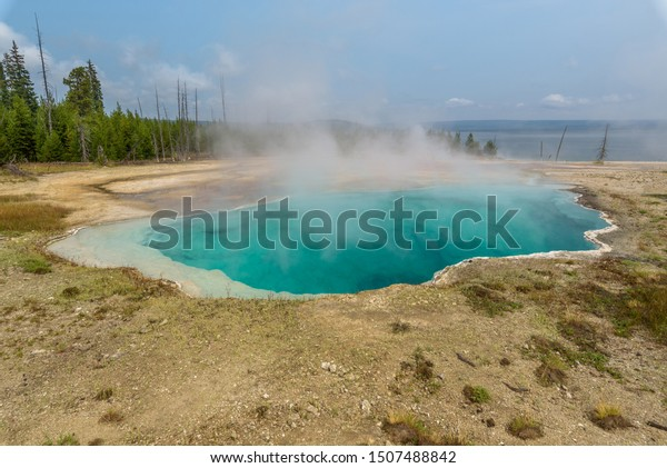 Black Pool hot spring in Yellowstone National Park, USA