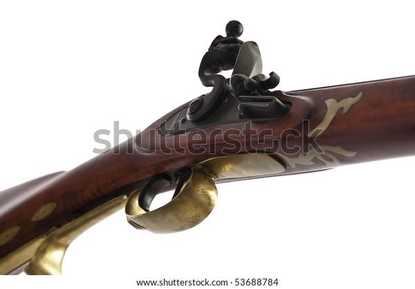 Black Powder Muzzle Loader Showing Detail Stock Photo (Edit