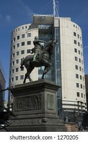 Black Prince statue, City Square, Leeds, West Yorkshire, Uk