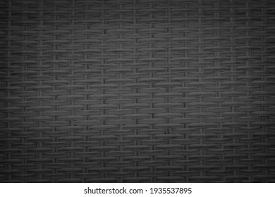 Black rattan texture for background.