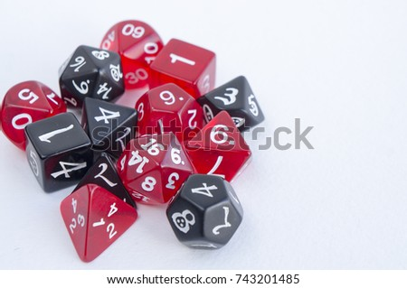 Black Red Dices Rpg Dnd Board Stock Photo Edit Now 743201485