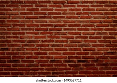 black and red grunge brick wall texture background with old dirty and vintage style pattern